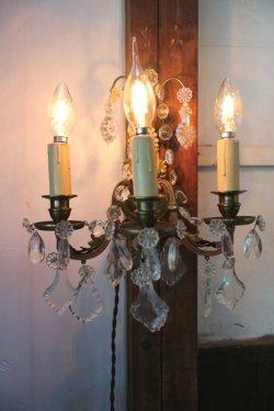 画像1: 3灯のウォールシャンデリア